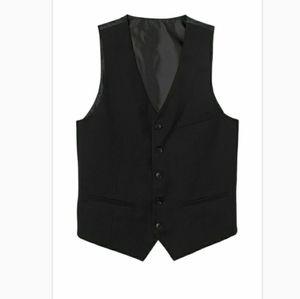 H&M Black Slim Fit Suit Vest Size 38R